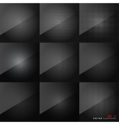 Carbon fiber texture Abstract backgrounds set vector image