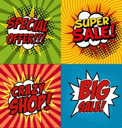 crazy shop vector image