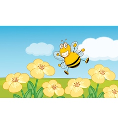 Happy bee vector