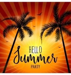 Hello Summer Beach Party Hello Summer Lettering vector image vector image