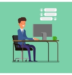 Live chat concept vector