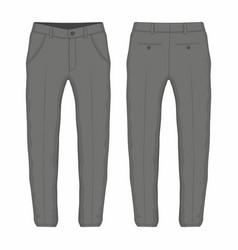 mens black trousers vector image