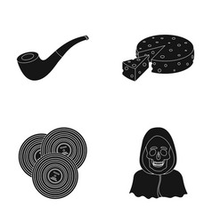 Police art and or web icon in black style ritual vector