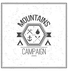Print on t shirt design theme of the mountains vector