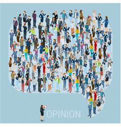 Public opinion template vector