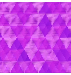 Purple retro textile triangles seamless pattern vector