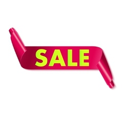 Sale tag on ribbon vector image