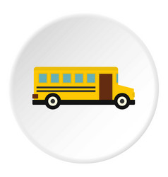 School bus icon circle vector