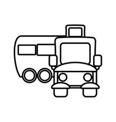 School bus transport pupils outline vector