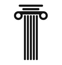 Square column icon simple style vector