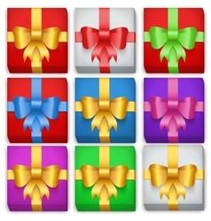 Gift box set Top view vector image