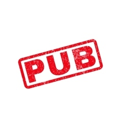 Pub rubber stamp vector