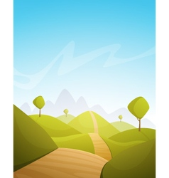 Countryside cartoon landscape vector