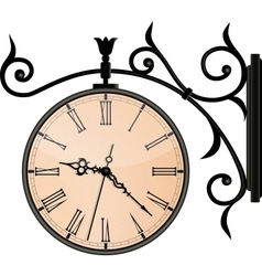 Vintage street clock eps10 vector