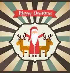 santa claus christmas character vector image