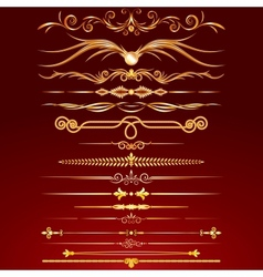 Collection of golden rule lines vector