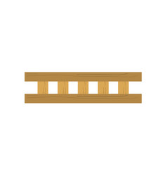 wooden ladder isolated vector image