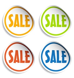 Sale sign stickers vector