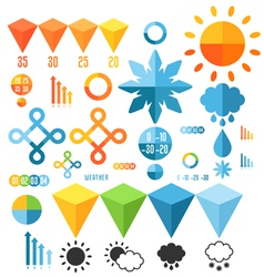Weather set of infographics elements vector