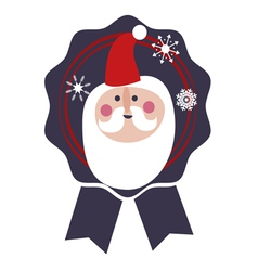 Santa label vector