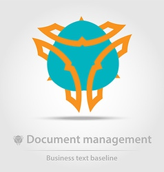 Document management business icon vector