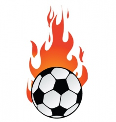 Flaming soccer vector