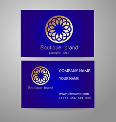 Boutique brand logo vector