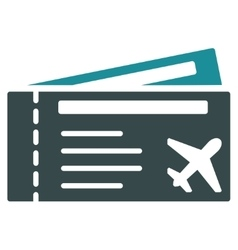 Airtickets flat icon vector