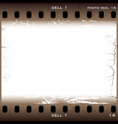 Grunge film cell vector