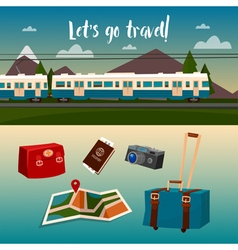 Time to travel by train vector