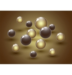 Different colour glass balls on colorful vector