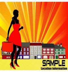 High street shopping vector