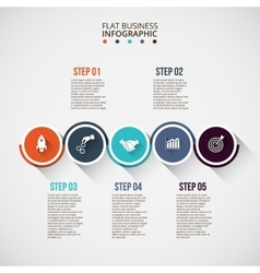 Flat circles with long shadows for infographic vector