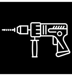 electric drill 1 vector image