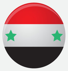 Syria flag icon flat vector