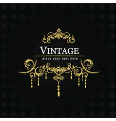 Vintage flourishes for poster vector