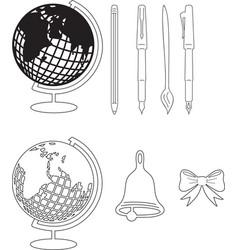 A set of school supplies vector