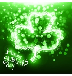 Abstract Patrick day card vector image vector image
