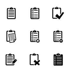 black check list icon set vector image