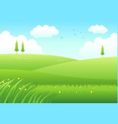 Cartoon of meadows vector