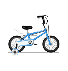 Classic kids bicycle isolated icon vector