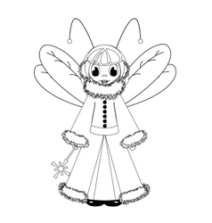 coloring with fairy vector image