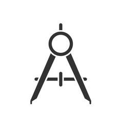 compass tool black icon vector image