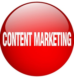 Content marketing red round gel isolated push vector
