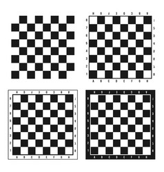 creative of chess board set vector image
