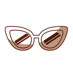 Cute shadow glasses cartoon vector