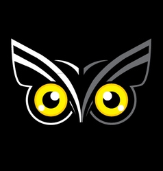 Eyes owl vector