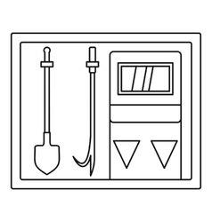 Fire extinguishing equipment icon outline style vector