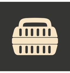 Flat in black and white mobile application vector