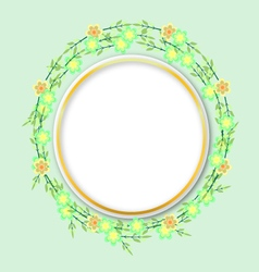 Flower with circle vector